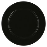 Black Basic Charger Plate