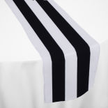 Black Cabana Table Runner