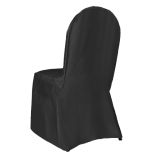 Black Classic Satin Banquet Chair Cover