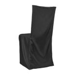 Black Classic Satin Chiavari Chair Cover