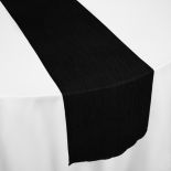 Black Crinkle Taffeta Table Runner