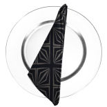 Black Deco Napkin
