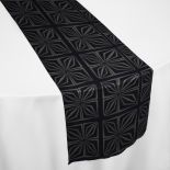 Black Deco Table Runner