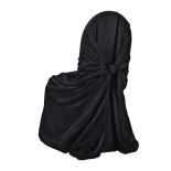 Black Duchess Satin Chair Cover
