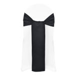 Black Duchess Satin Sash