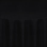 Black Faux Dupioni Table Linen