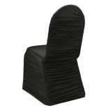 Black Ruched Banquet Chair Cover