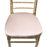 Blush Duchess Satin Chair Pad