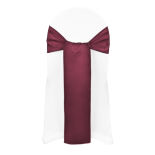 Burgundy Duchess Satin Sash