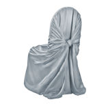 Charcoal Classic Satin Chair Cover
