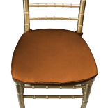 Copper Duchess Satin Chair Pad