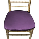 Eggplant Duchess Satin Chair Pad