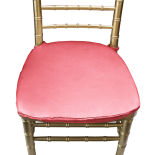 Fiesta Coral Duchess Satin Chair Pad