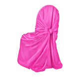 Fuchsia Classic Satin Pillowcase Chair Cover