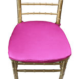 Garden Fuchsia Duchess Satin Chair Pad