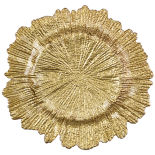 Gold Oyster Charger Plate