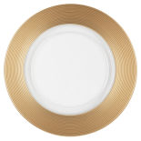 Gold Thick Rim Glass Charger Plate