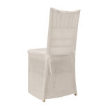 Ivory Chiffon Chiavari Chair Cover