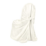 Ivory Duchess Satin Chair Cover