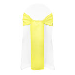 Lemon Duchess Satin Sash