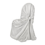 Light Silver Classic Satin Pillowcase Chair Cover