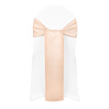 Peach Duchess Satin Sash