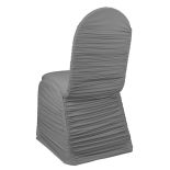 Platinum Ruched Banquet Chair Cover