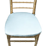 Powder Blue Duchess Satin Chair Pad