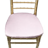 Powder Puff Pink Duchess Satin Chair Pad