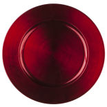 Red Basic Acrylic Charger Plate