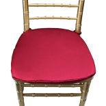 Roja Red Duchess Satin Chair Pad