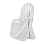 Silver Classic Satin Pillowcase Chair Cover