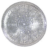 Silver Ornate Glass Charger Plate