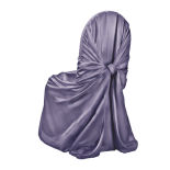 Victorian Lilac Classic Satin Chair Cover