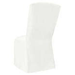 White Classic Linen Chair Cover