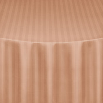 Beige Satin Stripe Table Linen