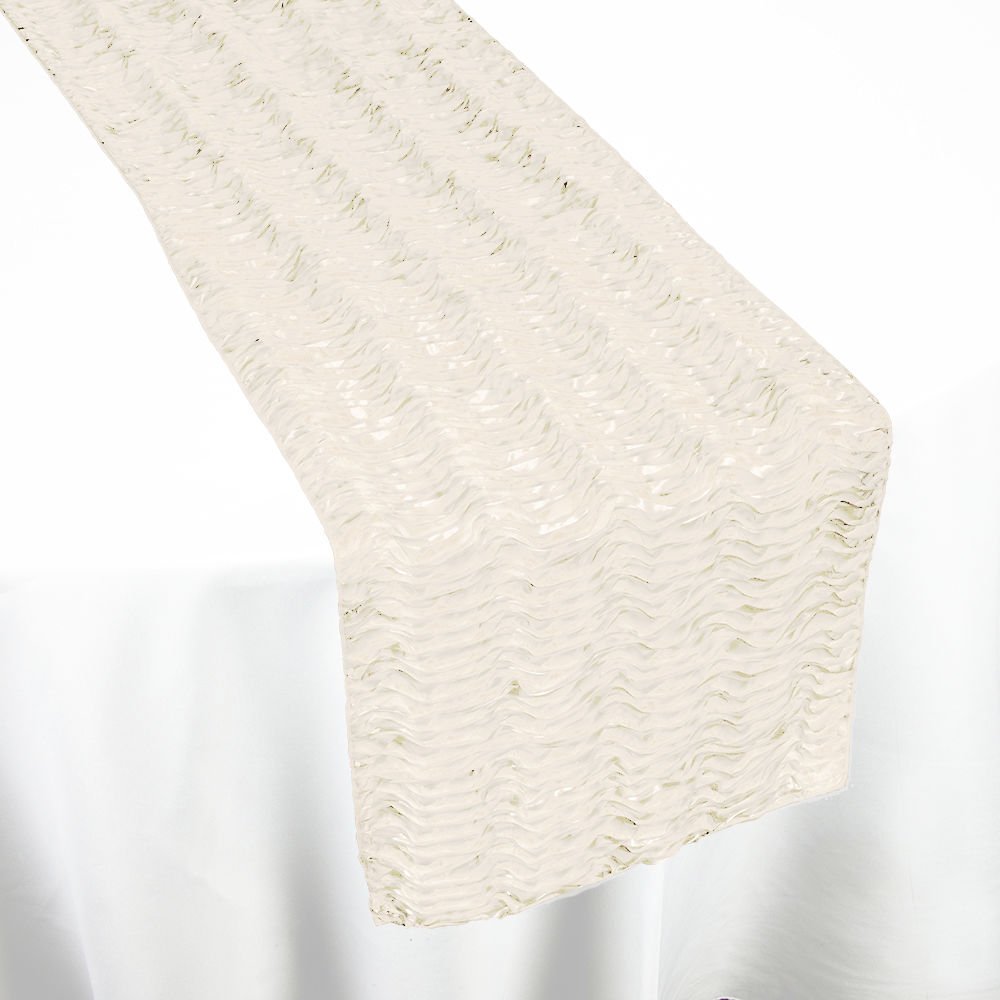 Beige Swagger Table Runner