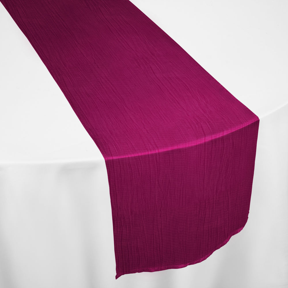 Berry Crinkle Taffeta Table Runner