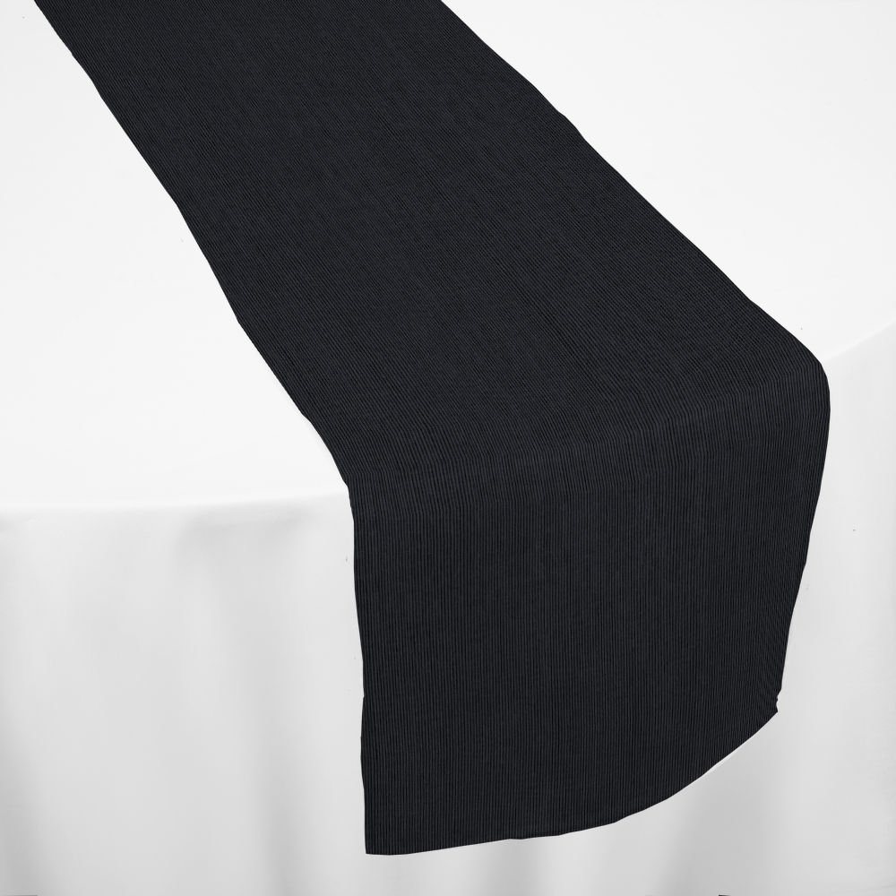 Black Bengaline Moire Table Runner