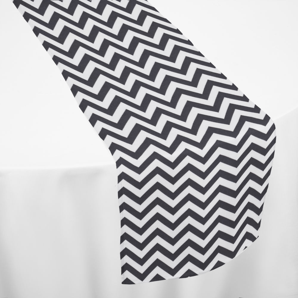 Black Chevron Table Runner