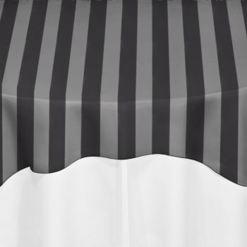 Black Chiffon Satin Stripe Overlay