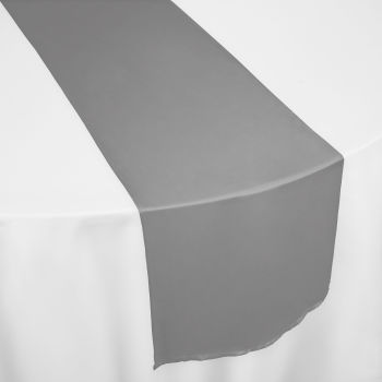 Black Chiffon Table Runner