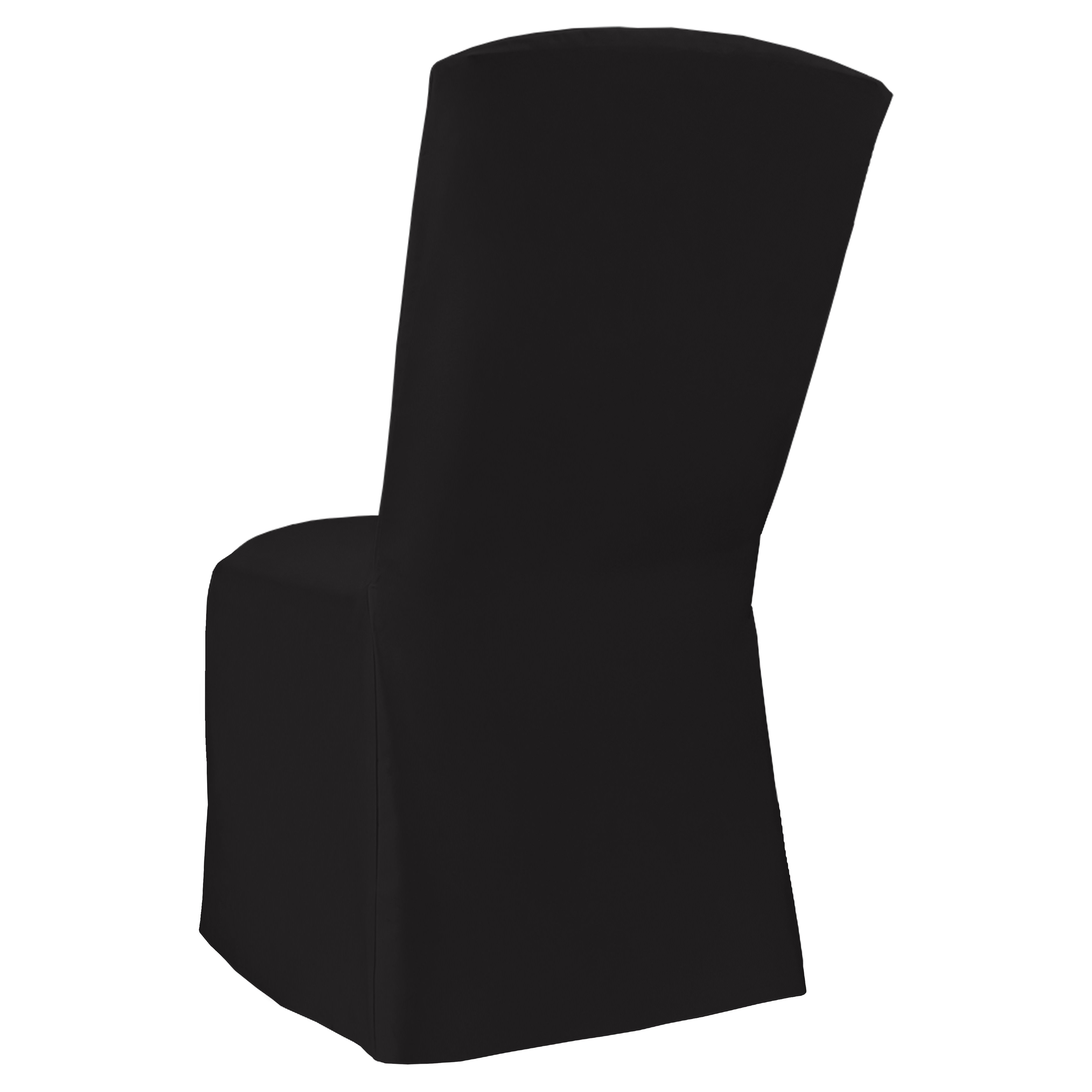 Black Classic Linen Banquet Square Chair Cover By Chair
