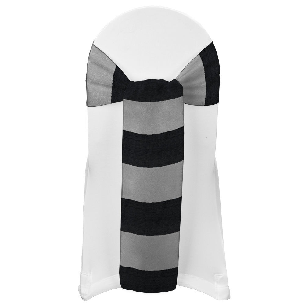 Black Eternity Stripe Sash