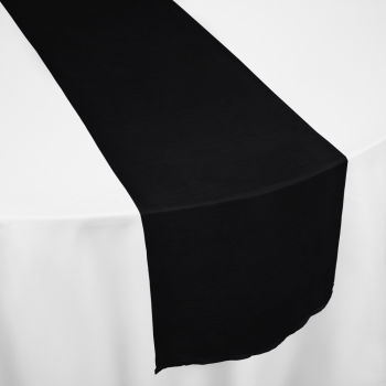 Black Faux Dupioni Table Runner