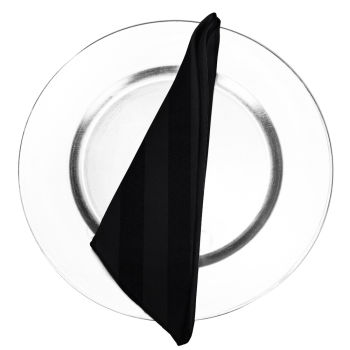 Black Satin Stripe Napkin