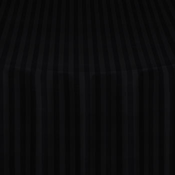 Black Satin Stripe Table Linen