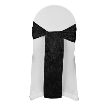 Black Tissue Lame Sash