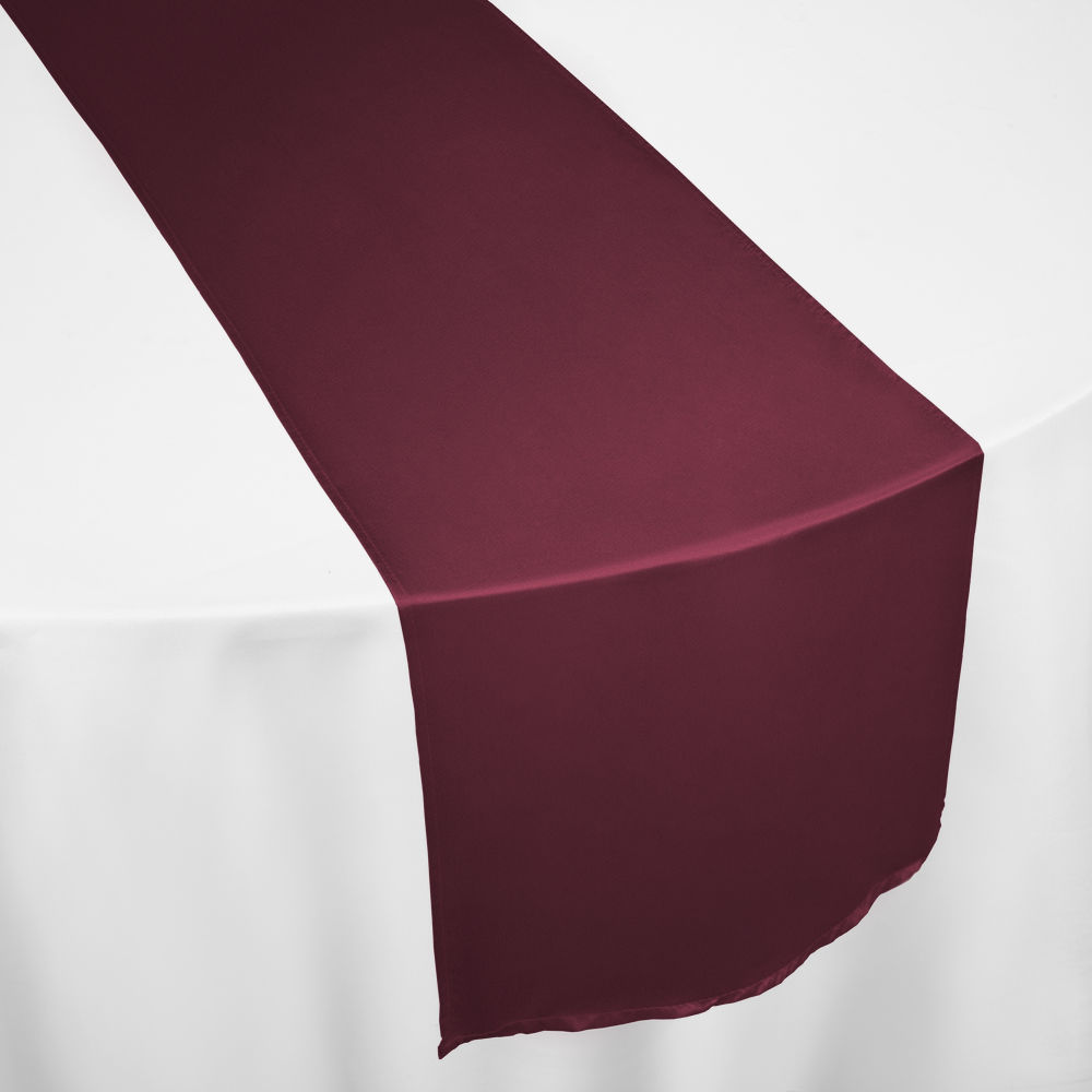 Burgundy Duchess Satin Table Runner ...