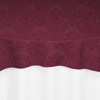 Burgundy Wellington Damask Overlay